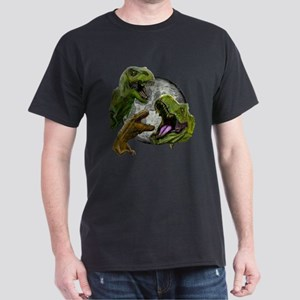 3 T-Rexes, 1 Moon T-Shirt