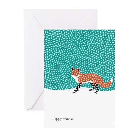 Snowy Fox Greeting Cards (Pk of 20)