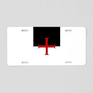 Knights Templar (black/white) Aluminum License Pla