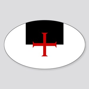 Knights Templar (black/white) Sticker (Oval)
