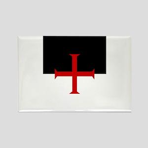 Knights Templar (black/white) Rectangle Magnet