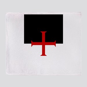 Knights Templar (black/white) Throw Blanket