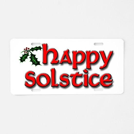 Happy Solstice Aluminum License Plate