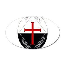 Knights Templar (Latin) 22x14 Oval Wall Peel