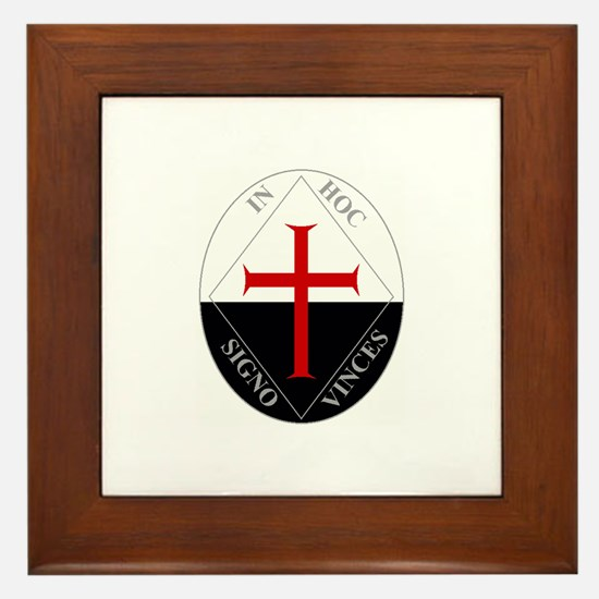 Knights Templar (Latin) Framed Tile