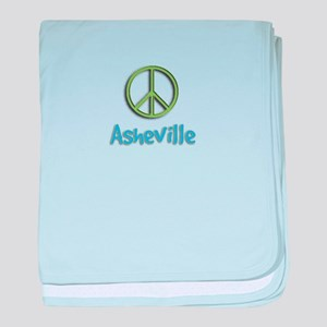 Peace Asheville baby blanket