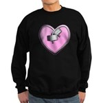 Barbell Heart (pink) Sweatshirt (dark)