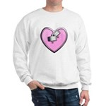Barbell Heart (pink) Sweatshirt