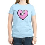 Barbell Heart (pink) Women's Light T-Shirt