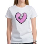 Barbell Heart (pink) Women's T-Shirt