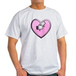 Barbell Heart (pink) Light T-Shirt