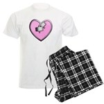 Barbell Heart (pink) Men's Light Pajamas