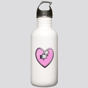 Barbell Heart (pink) Stainless Water Bottle 1.0L