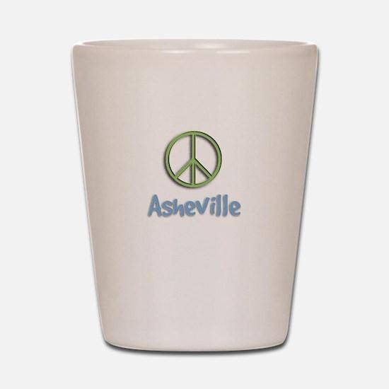 Peace Asheville Shot Glass