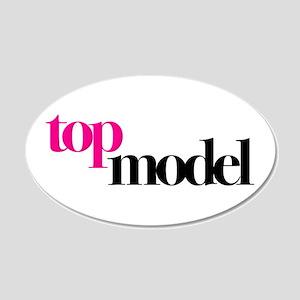 Top Model 22x14 Oval Wall Peel