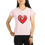 Barbell Heart (red) Performance Dry T-Shirt