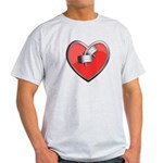 Barbell Heart (red) Light T-Shirt