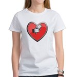 Barbell Heart (red) Women's T-Shirt
