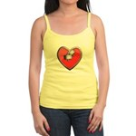 Barbell Heart (red) Jr. Spaghetti Tank