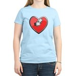 Barbell Heart (red) Women's Light T-Shirt