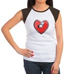 Barbell Heart (red) Women's Cap Sleeve T-Shirt