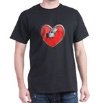 Barbell Heart (red) Dark T-Shirt
