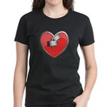 Barbell Heart (red) Women's Dark T-Shirt