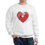 Barbell Heart (red) Sweatshirt