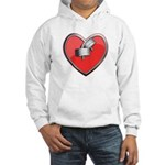 Barbell Heart (red) Hooded Sweatshirt