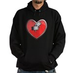 Barbell Heart (red) Hoodie (dark)