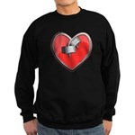 Barbell Heart (red) Sweatshirt (dark)