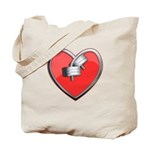 Barbell Heart (red) Tote Bag