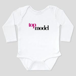 Top Model Long Sleeve Infant Bodysuit