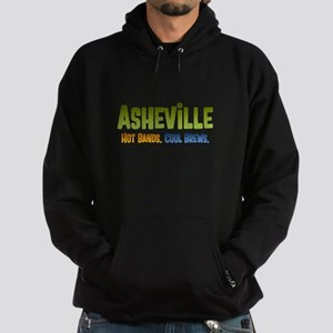Asheville. Hot bands. Hoodie (dark)