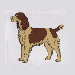 French Spaniel Throw Blanket