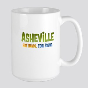 Asheville. Hot bands. Large Mug