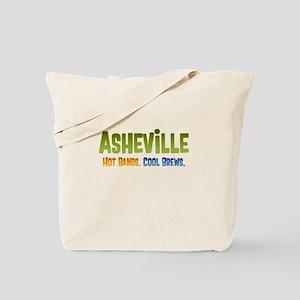 Asheville. Hot bands. Tote Bag