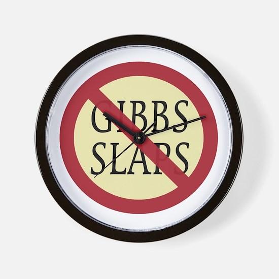NCIS: No Gibbs Slaps Sign Wall Clock