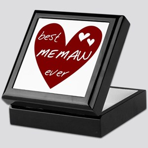 Heart Best Memaw Ever Keepsake Box