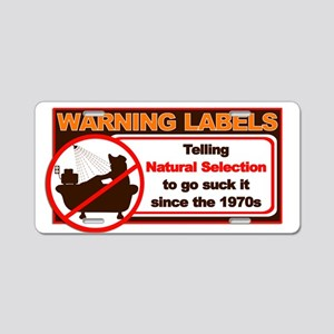 Natural Selection Aluminum License Plate