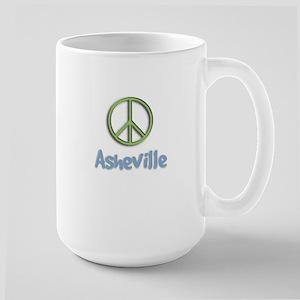 Peace Asheville Large Mug