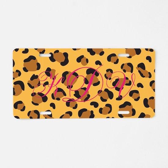 Cheetah Initials License Plate