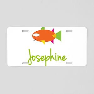 Josephine is a Big Fish Aluminum License Plate
