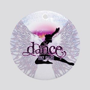 Crystal Dancer Ornament (Round)