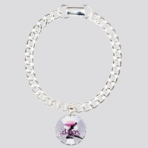 Crystal Dancer Charm Bracelet, One Charm