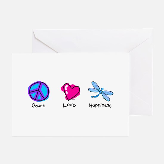 Peace Love and Dragonflies Greeting Cards (Package