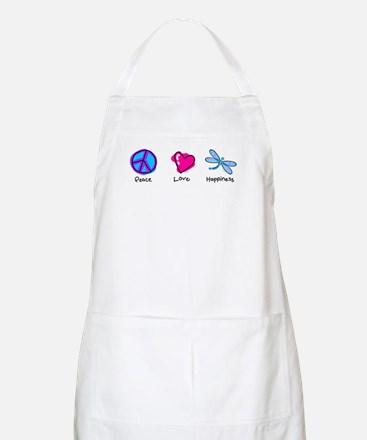 Peace Love and Dragonflies BBQ Apron