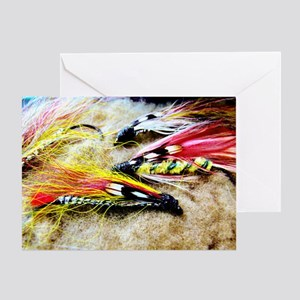 FLY FISHING LURES Greeting Card