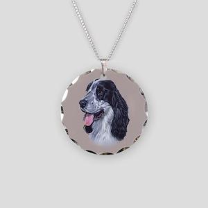 Cocker Spaniel (English) Necklace Circle Charm
