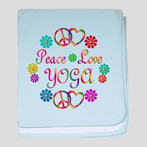 Peace Love Yoga baby blanket